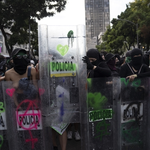 Feminist occupation of National Human Rights Commission in Mexico