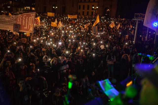 Manifestaciones multitudinarias contra el asesinato de líderes sociales en Bogotá, Colombia, el 26 de julio de 2019. (Foto: Juancho Torres/Anadolu Agency via Ge)