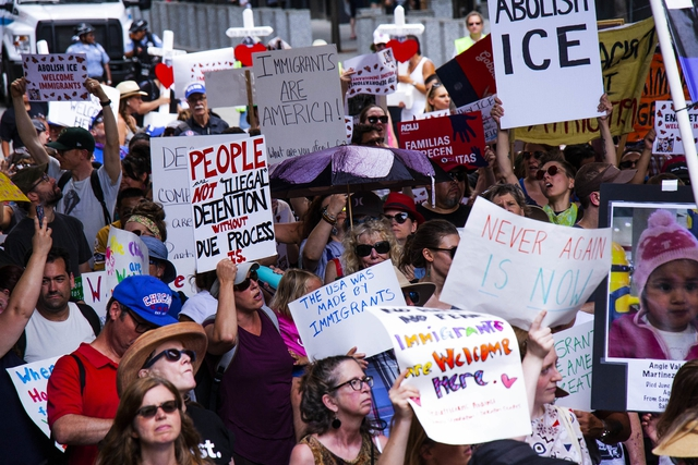 Protests against ICE camps and Deportation Raids in Chicago. Charles Edward Miller @ flicker