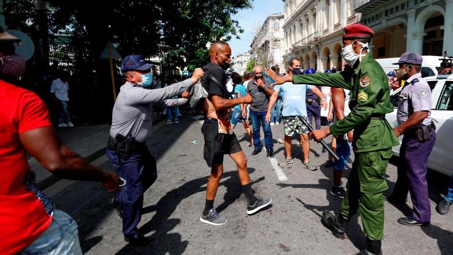 Protestas antigubernamentales generalizadas en toda Cuba