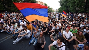 Thousands rally in Yeveran to mark the 100th day since Pashinyan's election