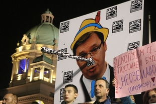 "Weekly ""1 of 5 million"" protests continue across Serbia"