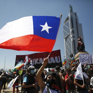 Protesters return to the streets ahead of constitutional referendum in Chile