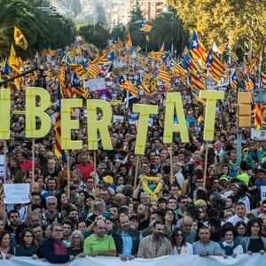 Catalan independence protests turn violent
