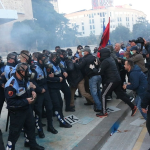 Tirana witnesses violent protests as anger spills onto the streets