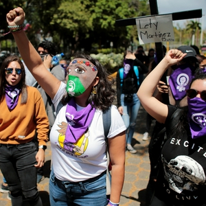 Clandestine protest on International Women's Day in Nicaragua