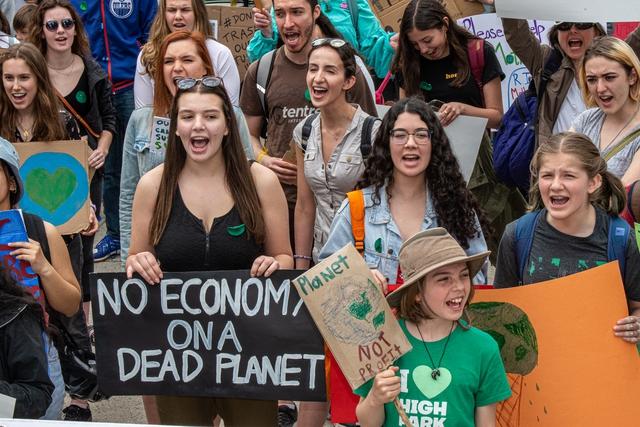 Grève pour le climat à Toronto le 24 mai 2019. Photo: Michael Swan @ Flicker.