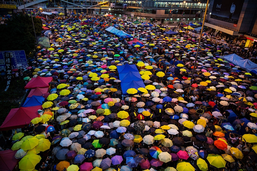 "Nine Hong Kong ""Umbrella movement"" activists facing trial while pro-independence party banned"