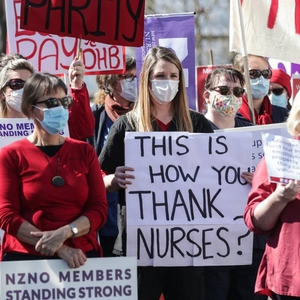 Nurses, climate activists and other solidarity groups hold protests amid the pandemic