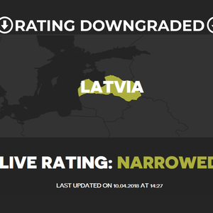 Latvia's rating downgraded to Narrowed