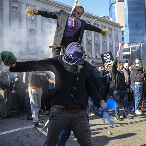 Unending protests unleash alarming violence as protesters spray buildings black
