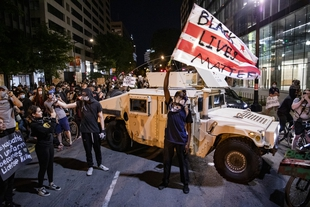 Countrywide protests to end police brutality in the United States met by militarised law enforcement
