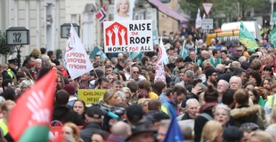Police criticised for abetting the use of force to remove housing protestors
