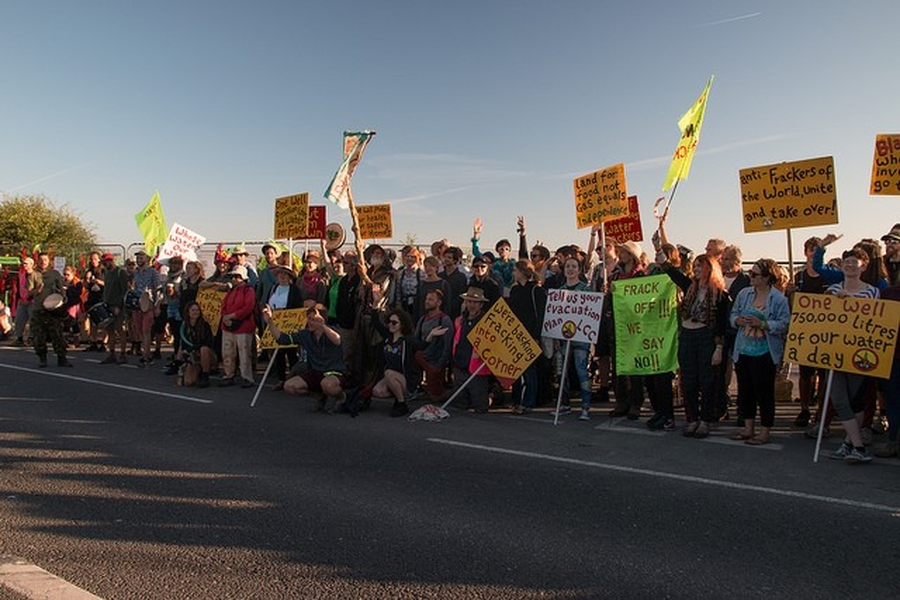 Environmental protests continue as fracking companies seek court injunction