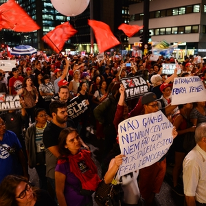 Anti-Temer protesters in Brazil injured in clashes and detained by police