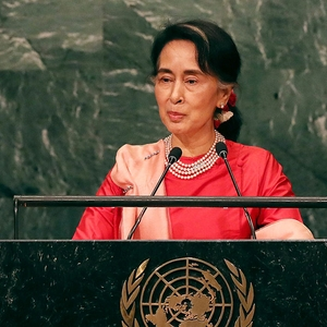 Activists say freedom of expression worsening as Suu Kyi is stripped of award
