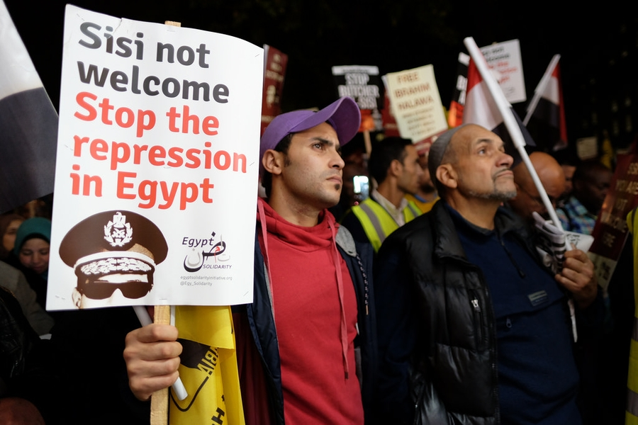 Egypt continues its systematic repression of human rights activists, journalists and protestors