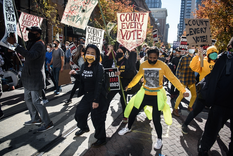 Election drives people to the streets in the US