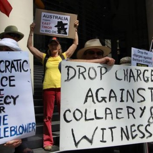 Secret whistle-blower hearings, overreach of security laws and arrest of protesters in Australia